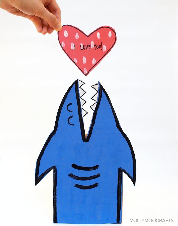 1. Valentine Shark Box