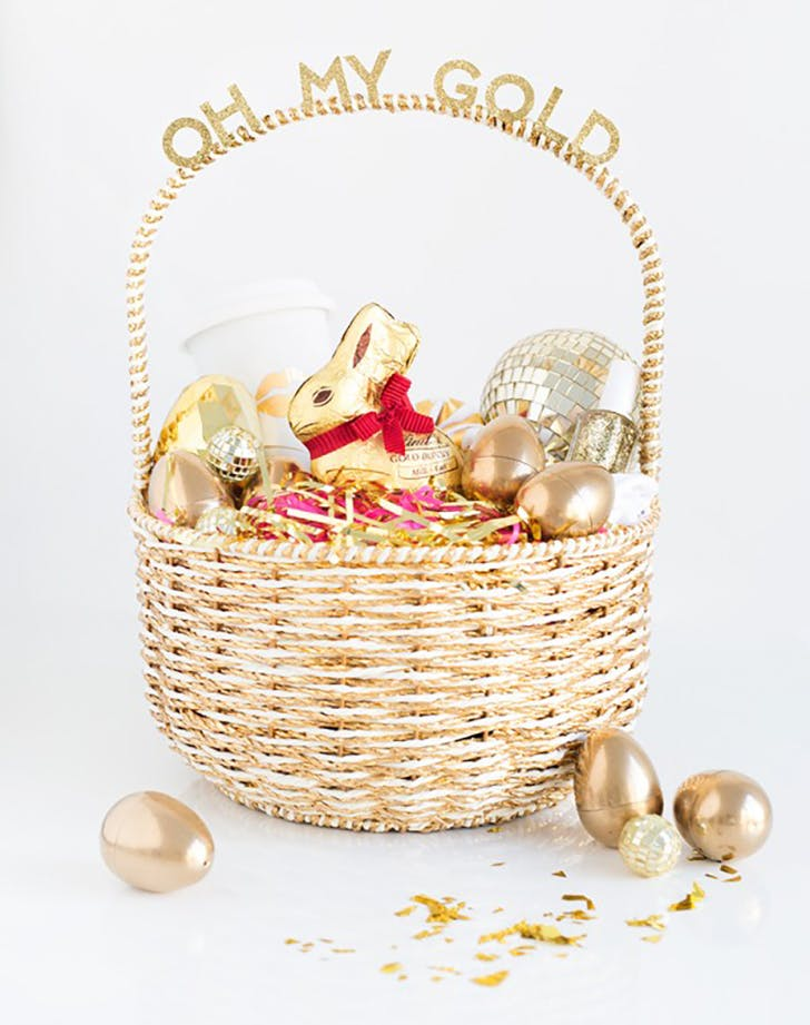 Oh My Golden Easter Basket Ideas