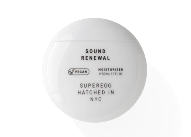 best new beauty launches january 2021 Superegg Sound Renewal Moisturizer