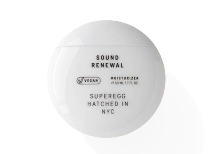 best new beauty launches january 2021 Superegg Sound Renewal Moisturizer