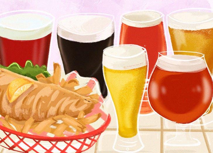 creative food and beer pairings hero