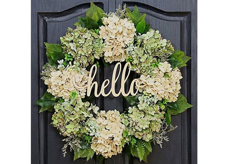 spring wreaths hello