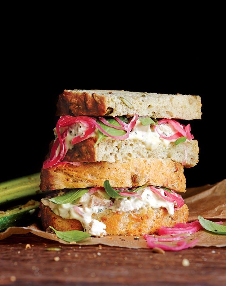 Tarragon Chicken Salad Sandwiches
