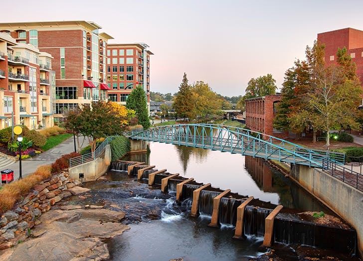 cool affordable cities greenville