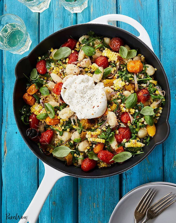 easy gnocchi recipes Summer Skillet Gnocci With Grilled Corn And Burrata Recipe