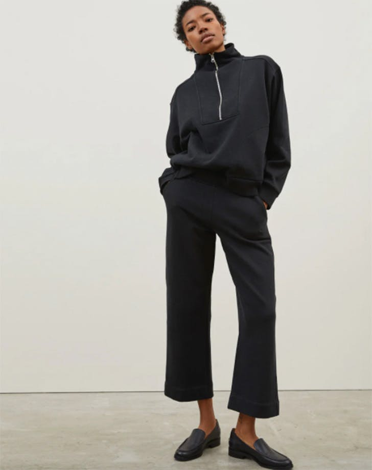 everlane The Track Wide Leg Pant