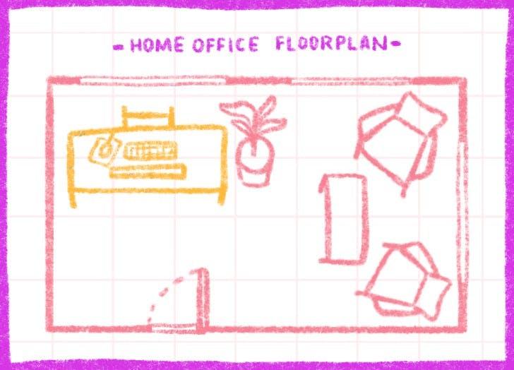 feng shui desk floorplan