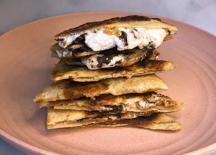 Fluffernutter Quesadilla, aka the Ultimate Midnight Snack for Peanut Butter Lovers