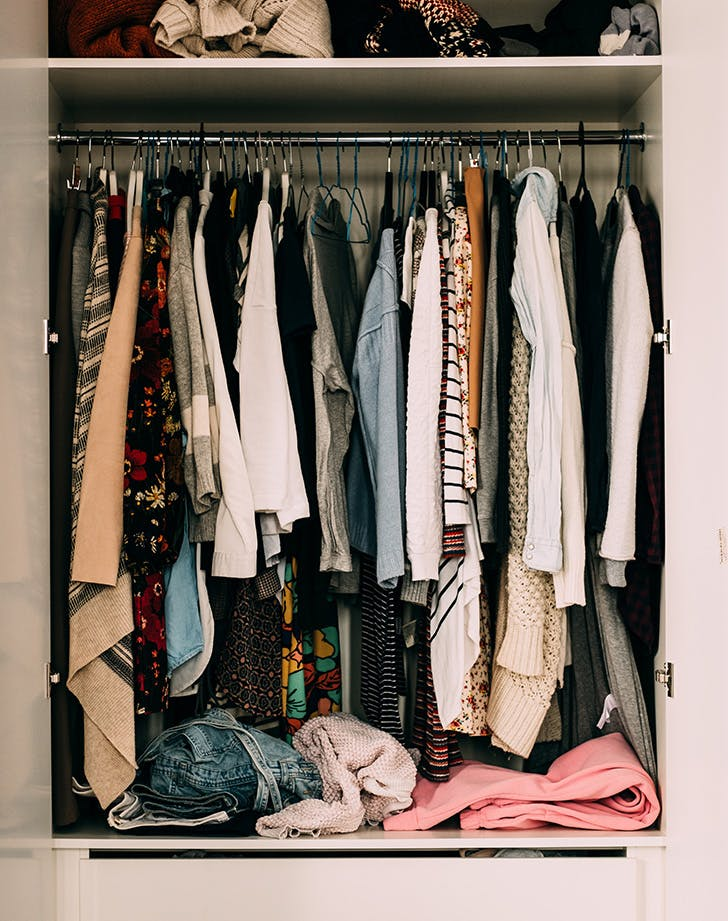 how to organize a small closet take a step back