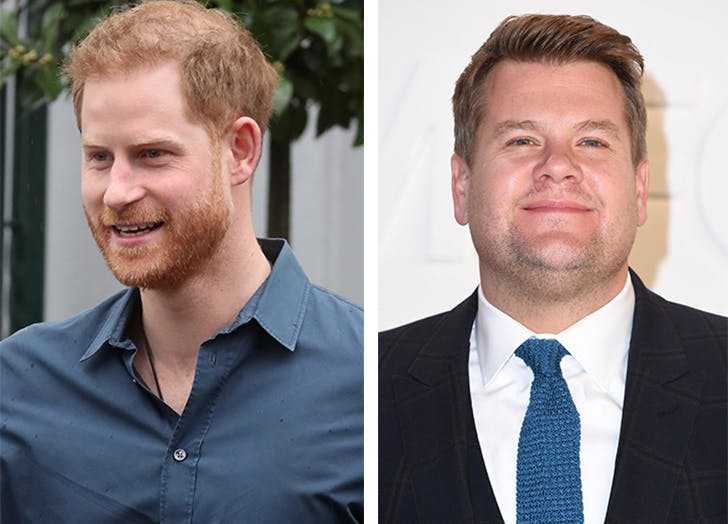 Prince Harry Was Just Spotted Filming 'Carpool Karaoke' with Pal James Corden
