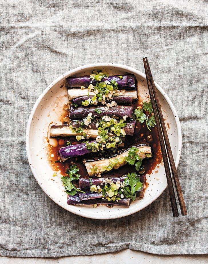 Seasoned Steamed Eggplant