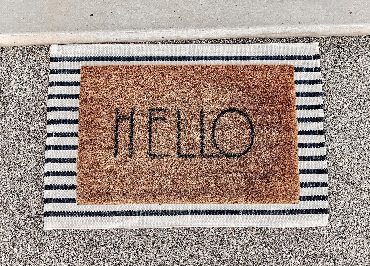 staging furniture welcome mats
