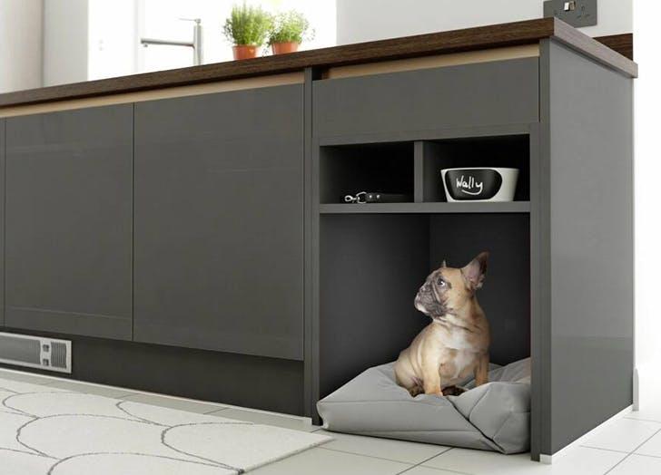 Dog bed kitchen Nook