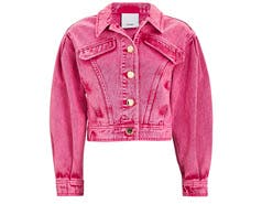 acler pink denim jacket
