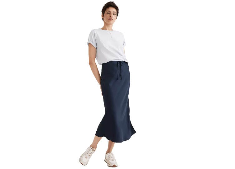 bias skirts under 100 navy