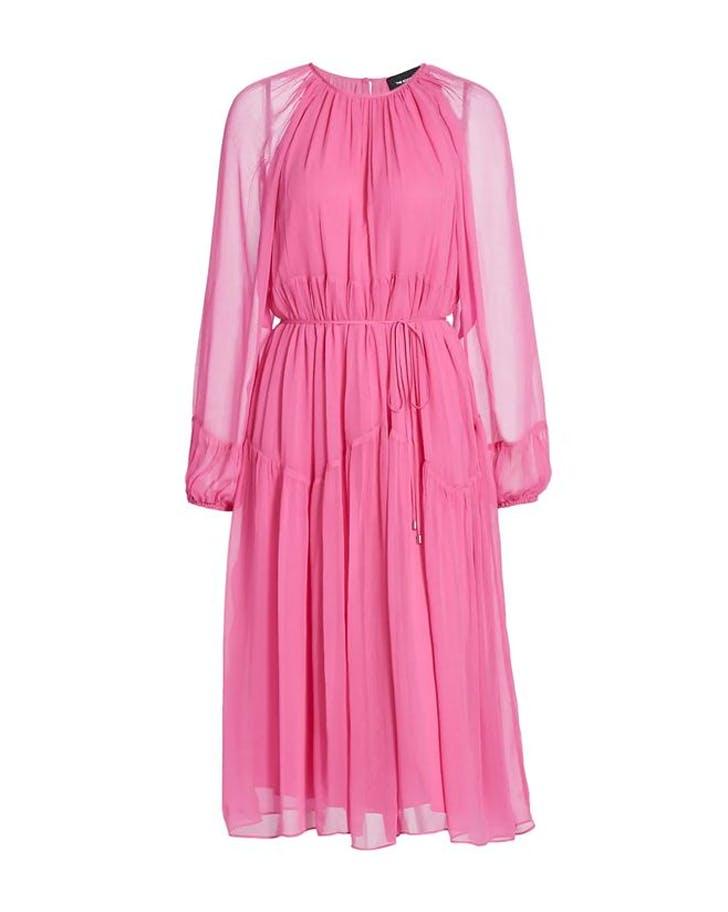 bright pink color trendthe kooples dress