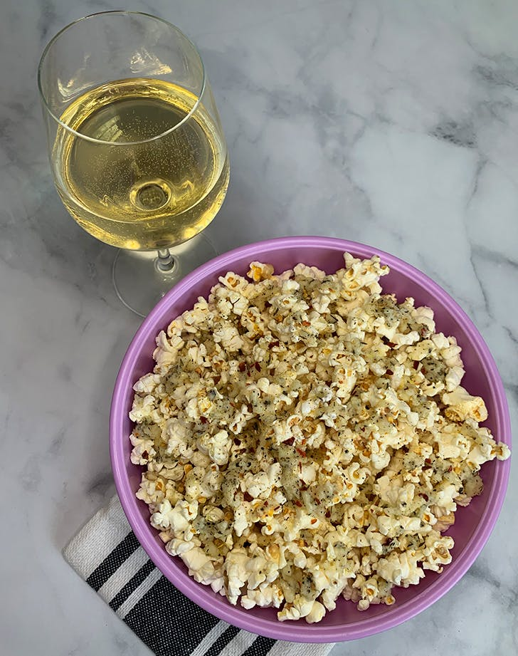 Garlic Parmesan Popcorn, for When You're Craving Something Salty Before Bed