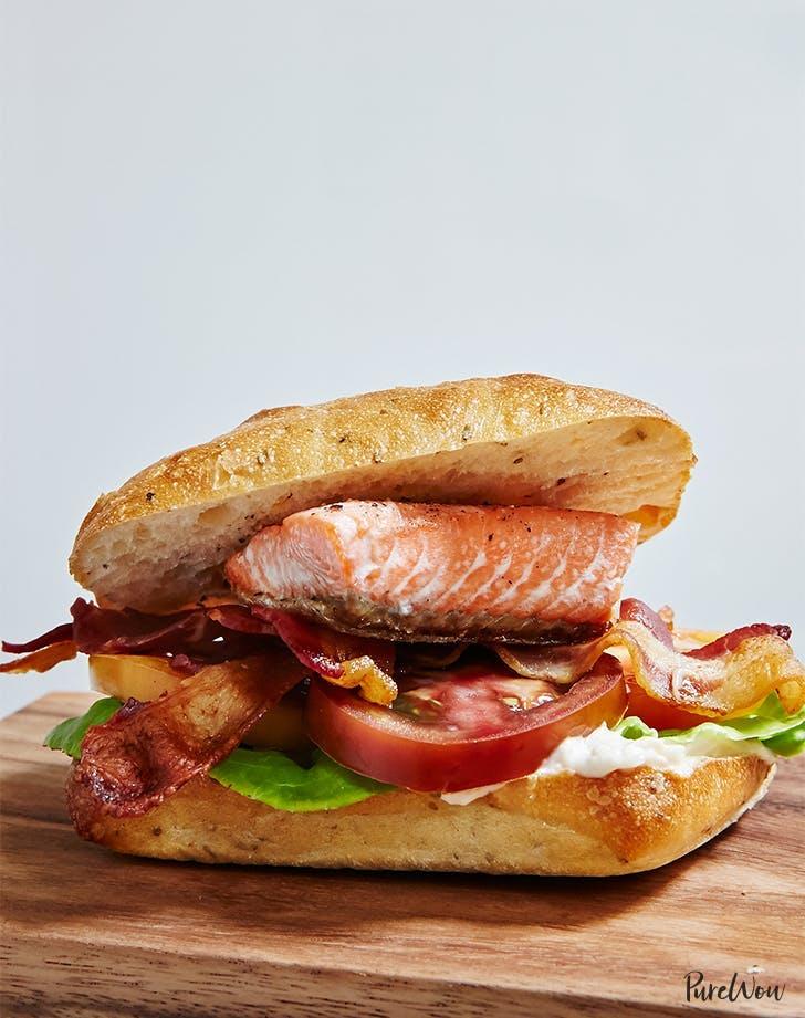 leftover salmon recipes Salmon BLT Recipe