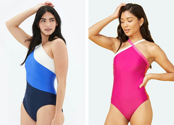 one piece swim for long torsos summersalt