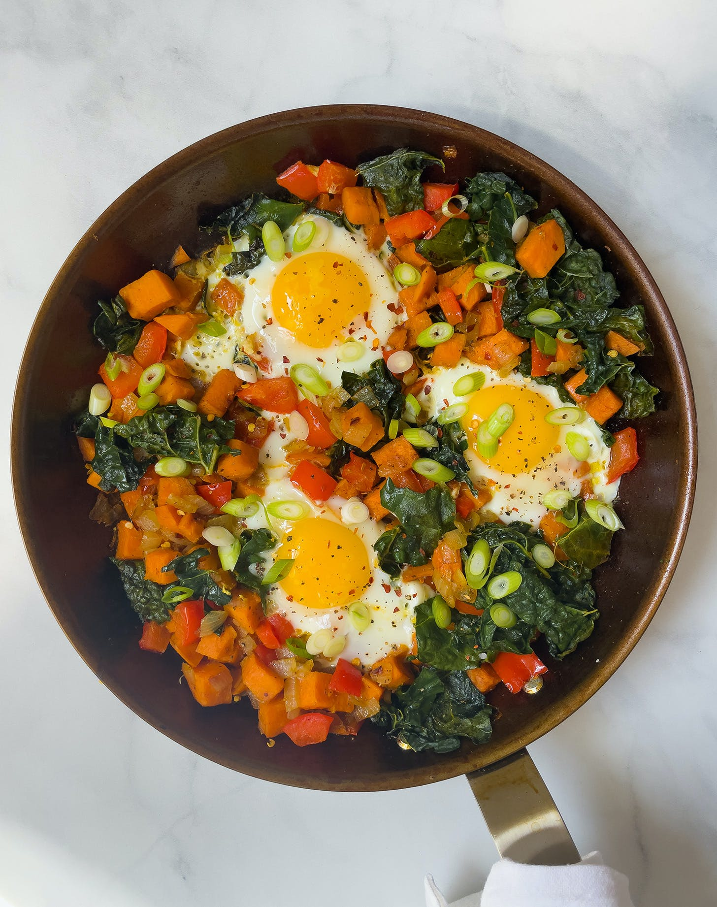30-Minute Breakfast Hash with Kale and Sweet Potatoes