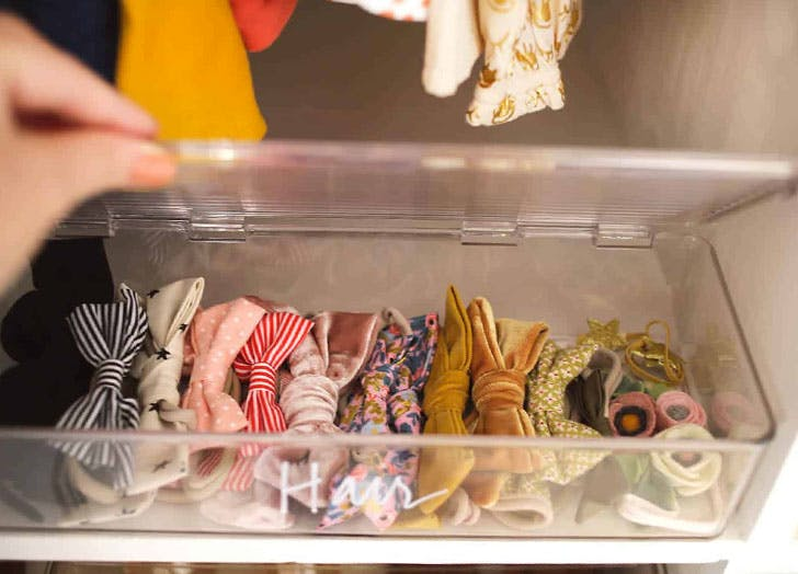 How to Organize Baby Clothes Clear Storage Containers