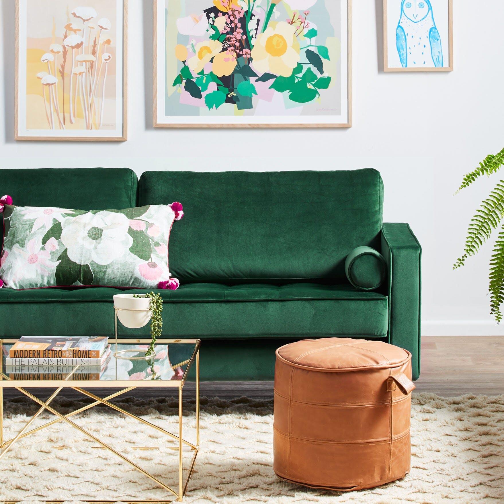 Lark 84 22 Square Arm Sofa detail
