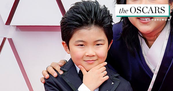 9-Year-Old 'Minari' Star Alan Kim Just Stole the Oscars Red Carpet