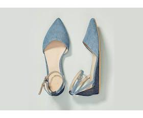 blue heels anthropologie