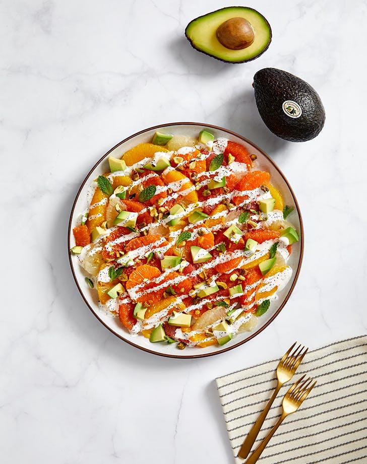 Mixed Citrus and California Avocado Salad with Poppyseed Dressing