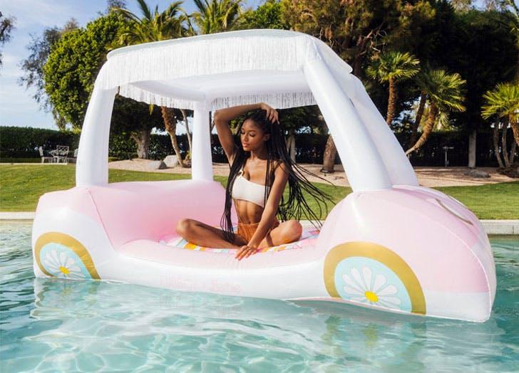 funboy x malibu barbie pool float collection golf cart