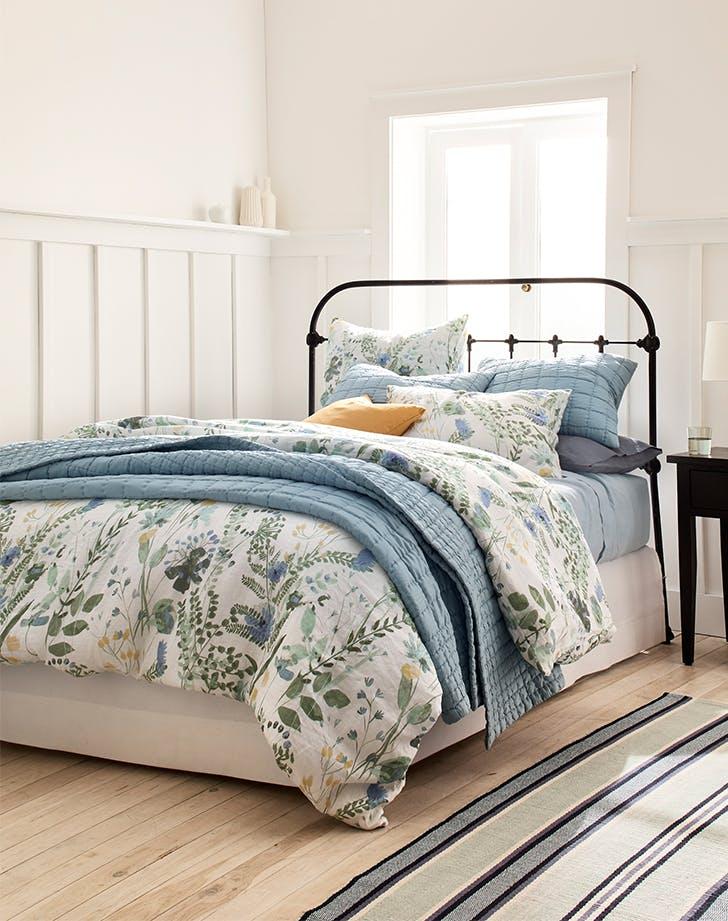 garnet hill wildflower linen bedding