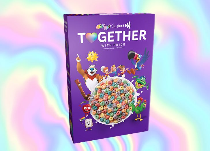Kellogg's Is Launching a Rainbow Cereal for Pride Month (and It's Covered in Glitter!)