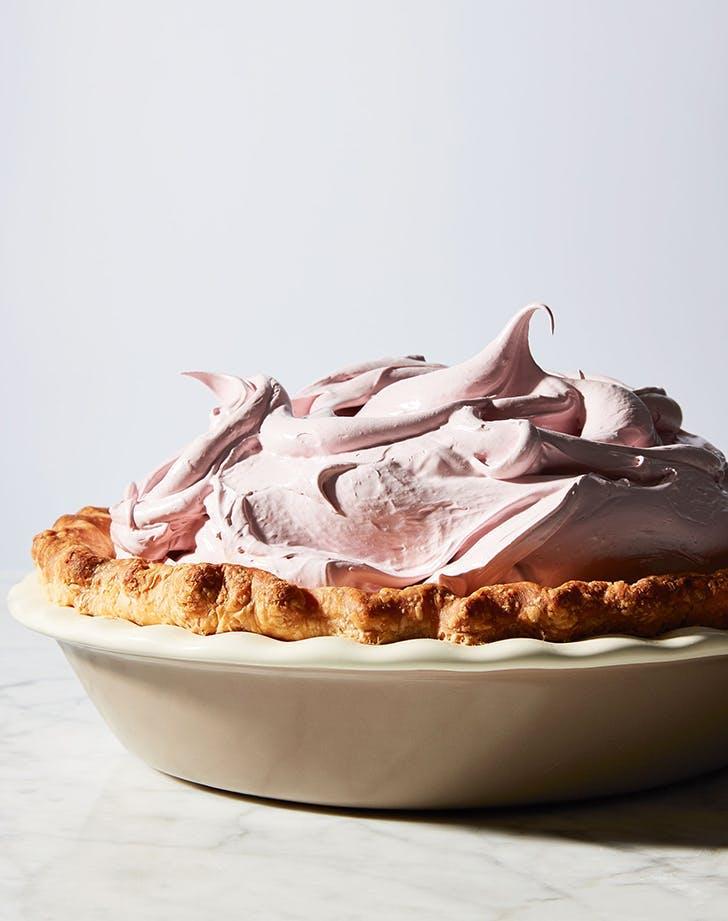peanut butter desserts peanut butter cream pie with raspberry meringue recipe