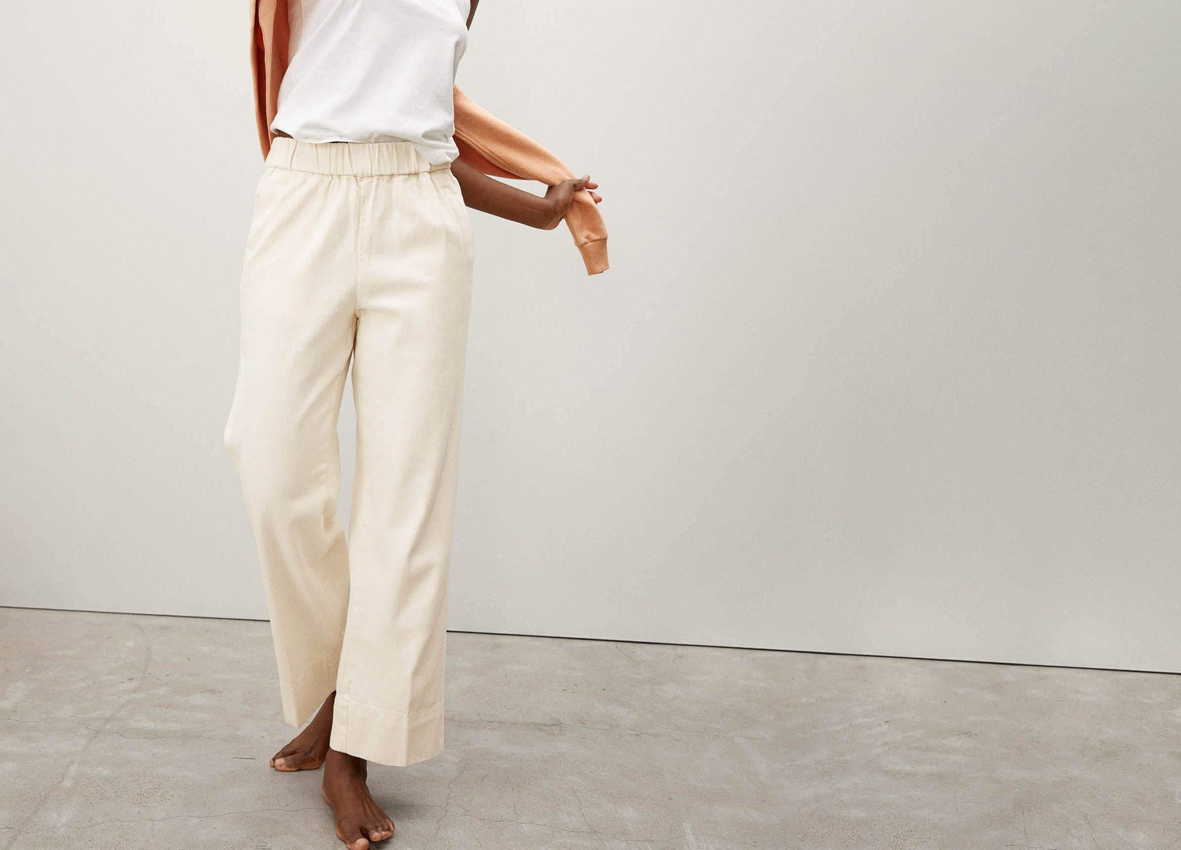 post pandemic pants everlane white