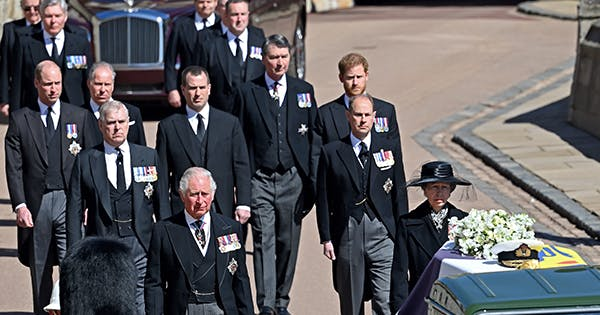 The Real Story Behind the Royals Wearing Suits at Prince Philip rsquo s Funeral   amp  No  It Wasn rsquo t Harry rsquo s Fault