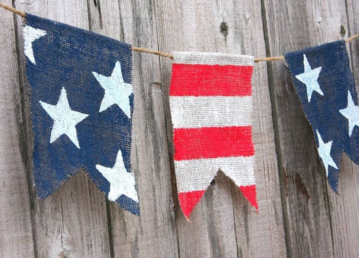 4th of july party decor patriotic banner 4th of July crafts