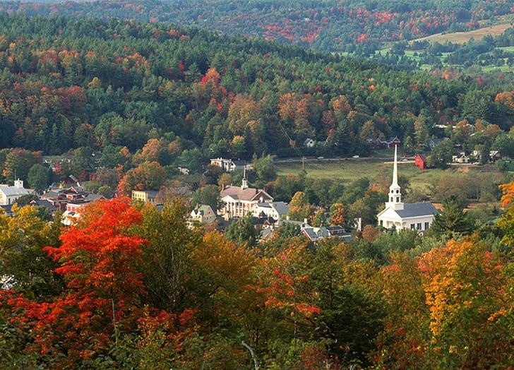 Best towns in Vermont WOODSTOCK