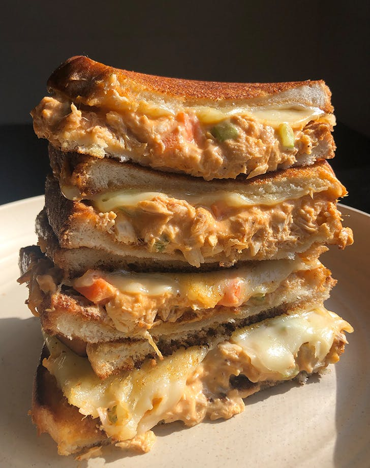 Buffalo Tuna Melt, or What to Make When You Accidentally Skip Dinner