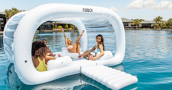 Funboy's Giant Cabana Pool Float Is Back In Stock & Better Than Ever