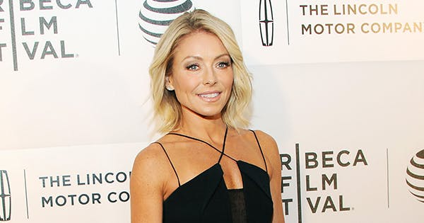 Kelly Ripa Shares Snap of Her 'Vintage Mom' Rocking a Red Crop Top & High-Waisted Pants