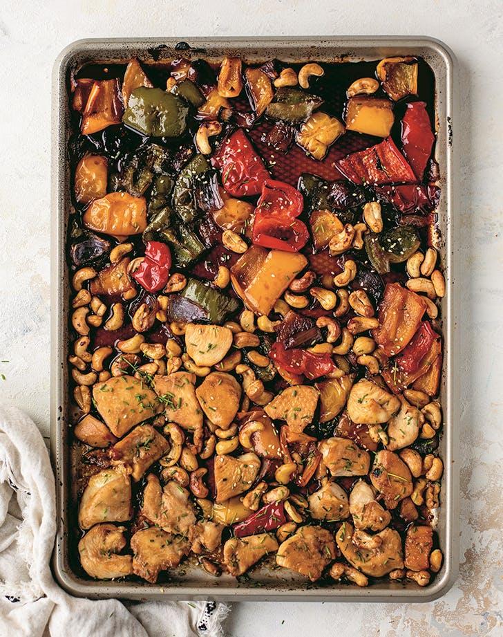 Sheet-Pan Cashew Chicken