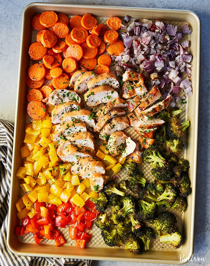 Sheet-Pan Chicken and Rainbow Vegetables