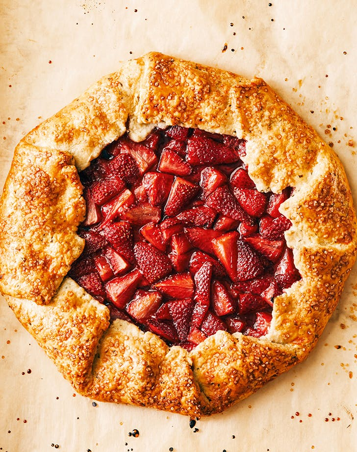 Strawberry Galette with Whipped Cream