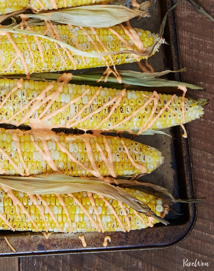 what to serve with pulled pork Grilled Corn With Spicy Aioli Recipe