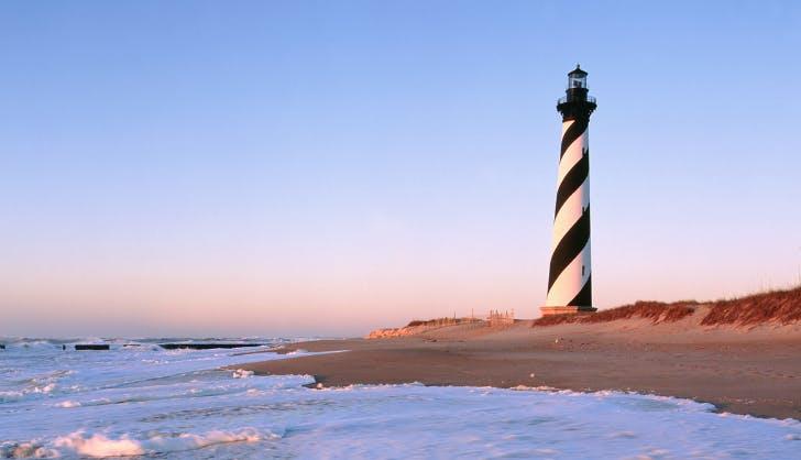 Cape Hatteras Lighthouse   Buxton  NC   stock photo
