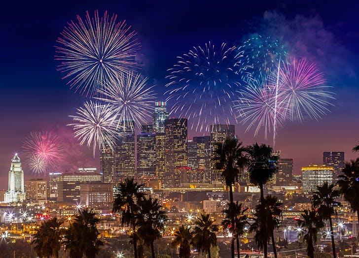 July 4 Fireworks LA CAT