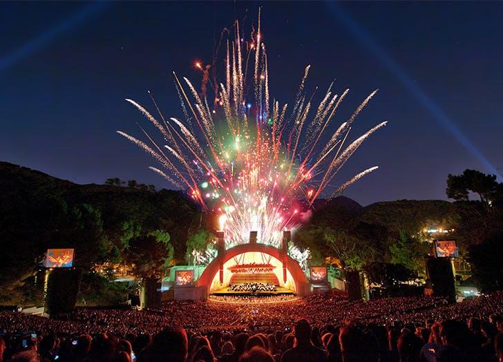 July 4 Fireworks LA Hollywood Bowl