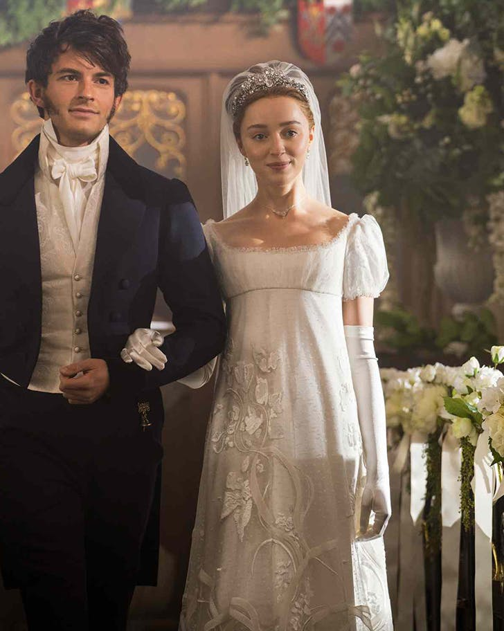 bridgerton gowns wedding fashion trends 2021
