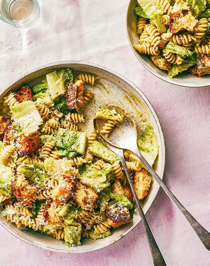 july dinner ideas caesar pasta salad recipe