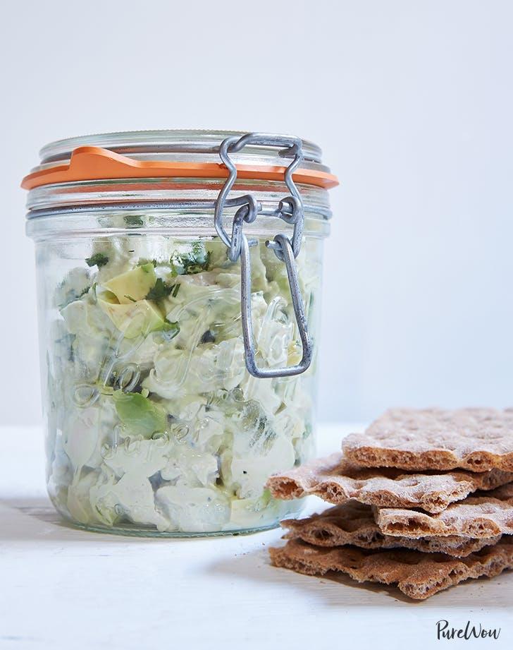 picnic food ideas Avocado Chicken Salad Recipe